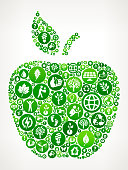 Apple Nature and Environmental Conservation Icon Pattern