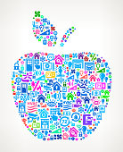 Apple on Home Automation and Security Vector Background