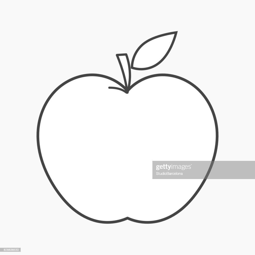 Apple outline shape vector