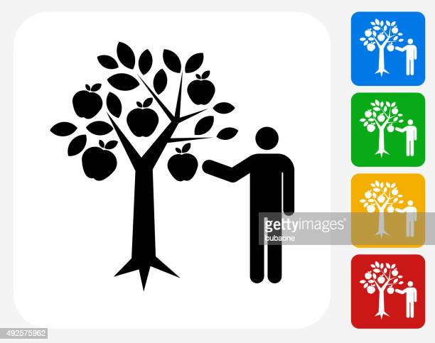 Pommes icône à la conception graphique