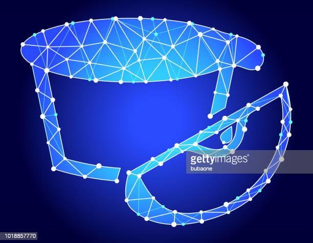 Apple Pie Blue Triangle Node Vector Pattern