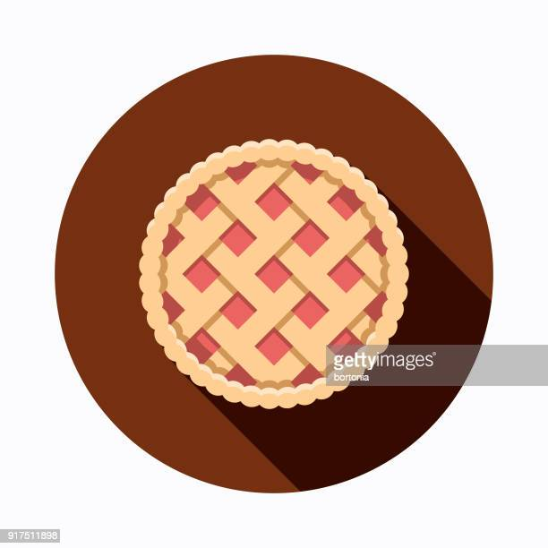 apple pie flat design baking icon - pastry lattice stock illustrations, clip art, cartoons, & icons