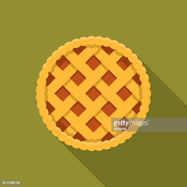 Apple Pie Flat Design Thanksgiving Icon