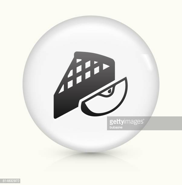 Apple Pie icon on white round vector button