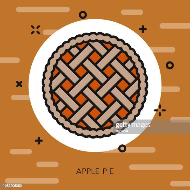 アップルパイ細い線秋アイコン