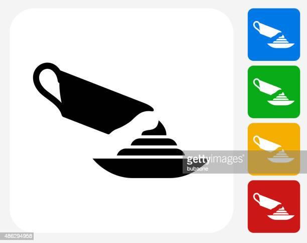 Apple Sauce whirl Icon Flat Graphic Design