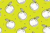 Apple seamless pattern. Vector illustration