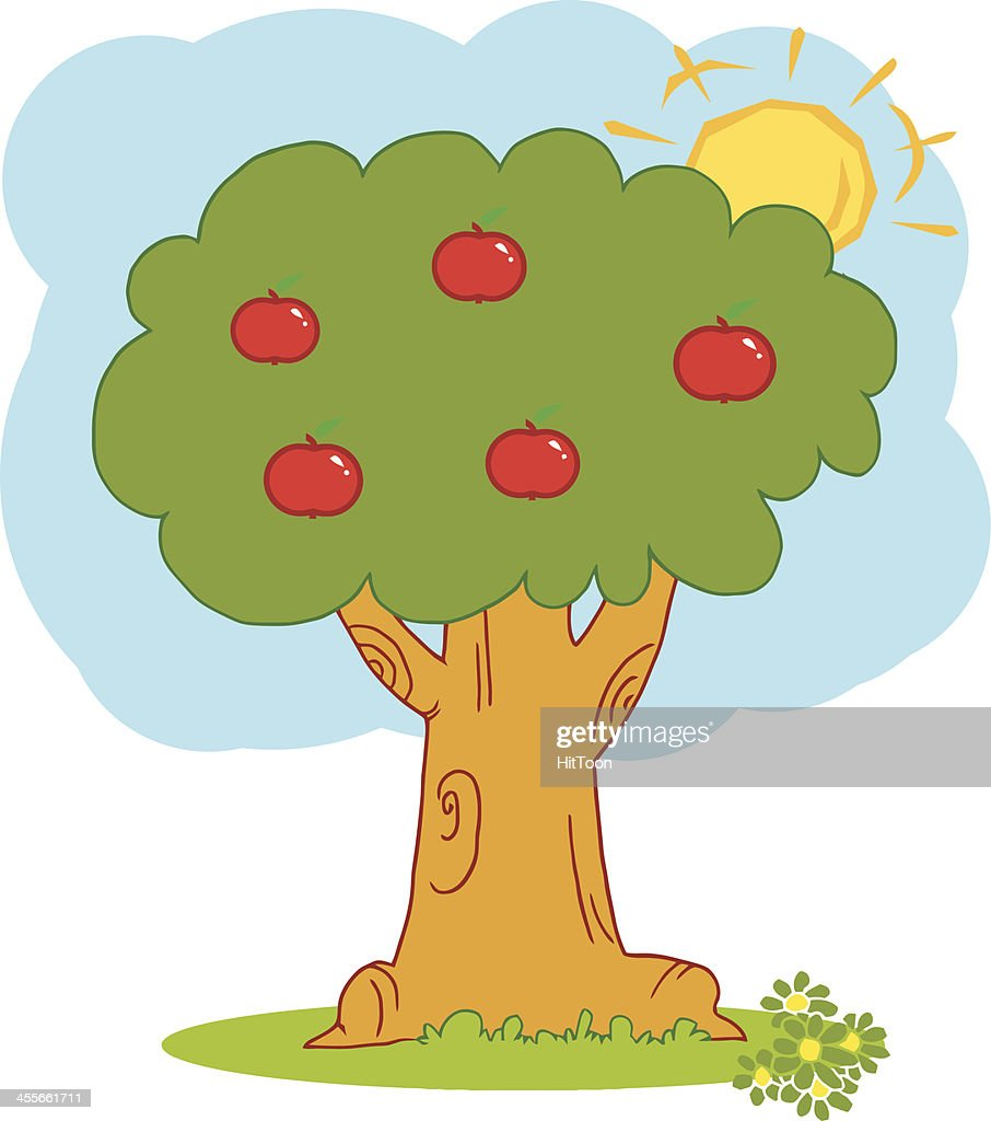 Apple Tree With Background