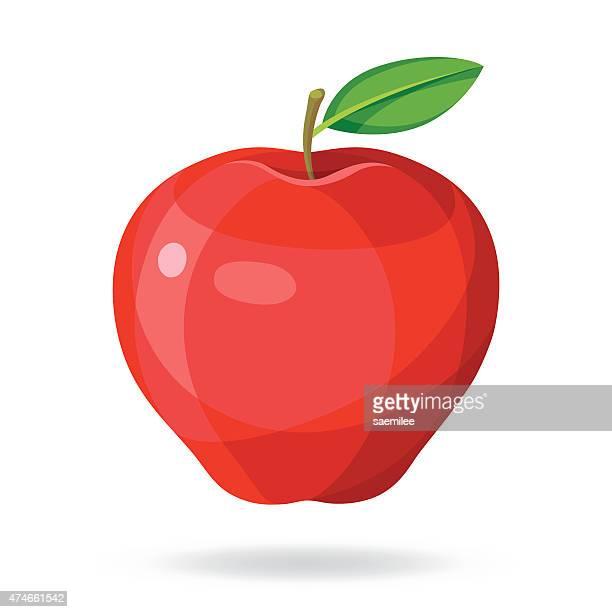 ilustraciones, imágenes clip art, dibujos animados e iconos de stock de apple - manzana