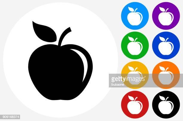 ilustraciones, imágenes clip art, dibujos animados e iconos de stock de apple. - manzana