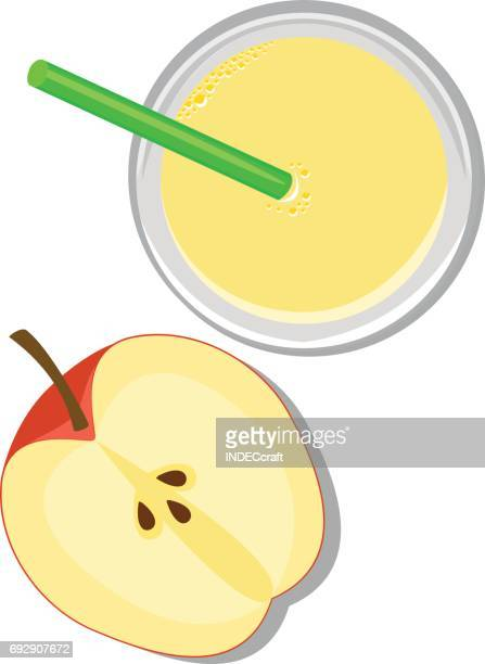 apple with juice - fruit juice stock illustrations, clip art, cartoons, & icons