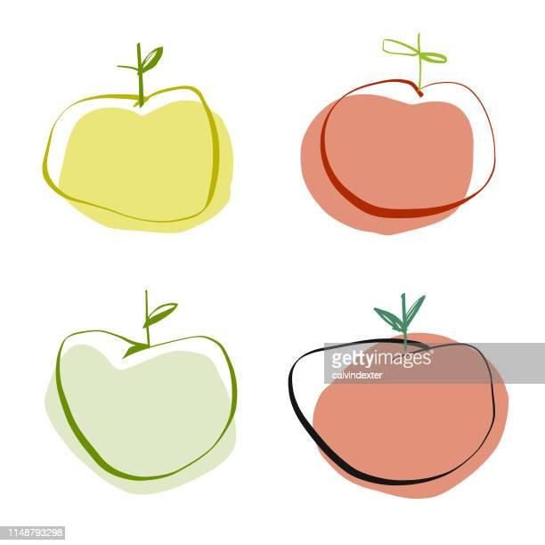 Apples pencil drawings