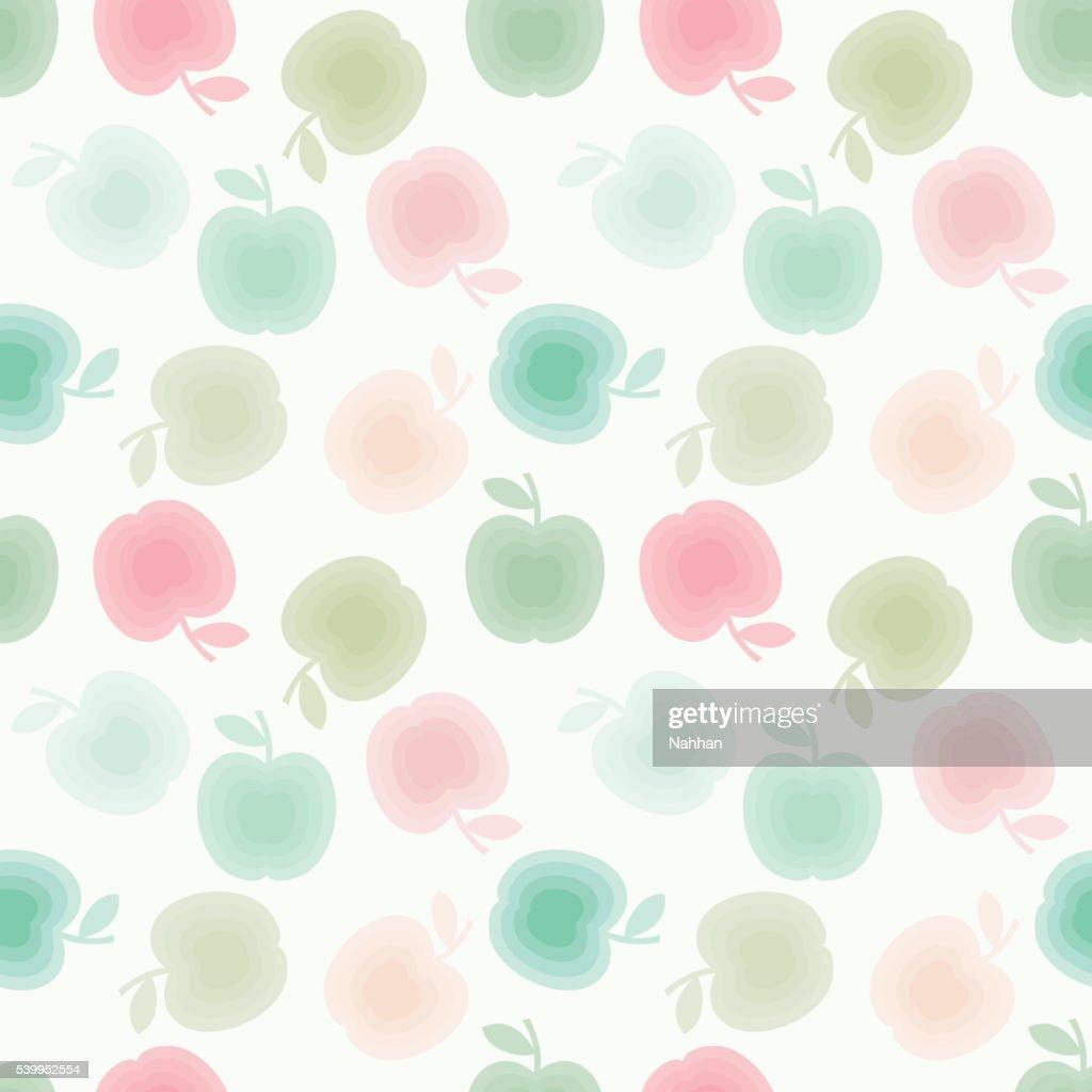 Apples seamles pattern
