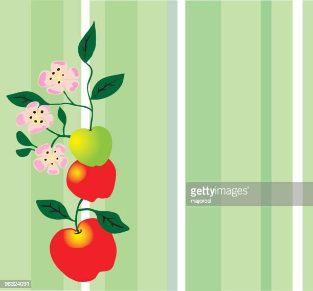 apples with blossoms