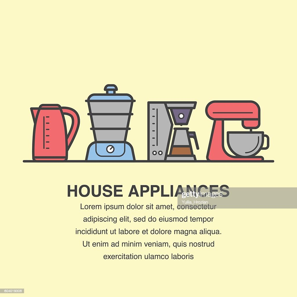 Appliances banner template for advertisement.