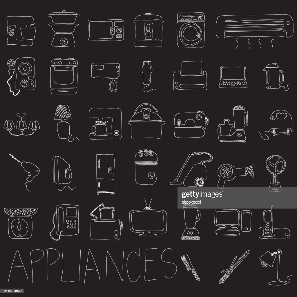 Appliances hand drawn