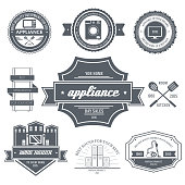 appliances label template of emblem element for your product
