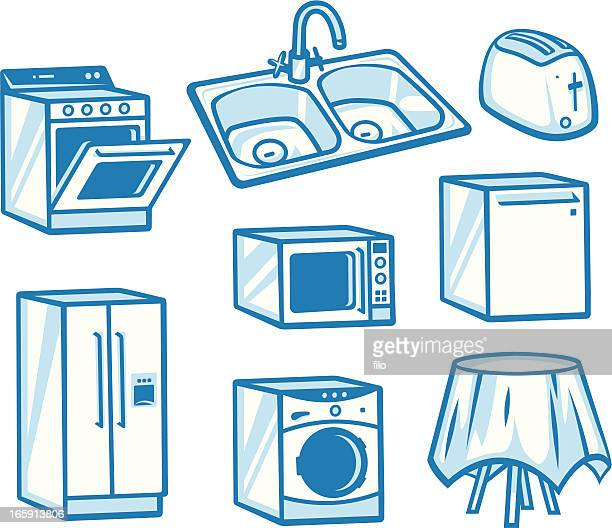 appliances - toaster appliance stock illustrations, clip art, cartoons, & icons