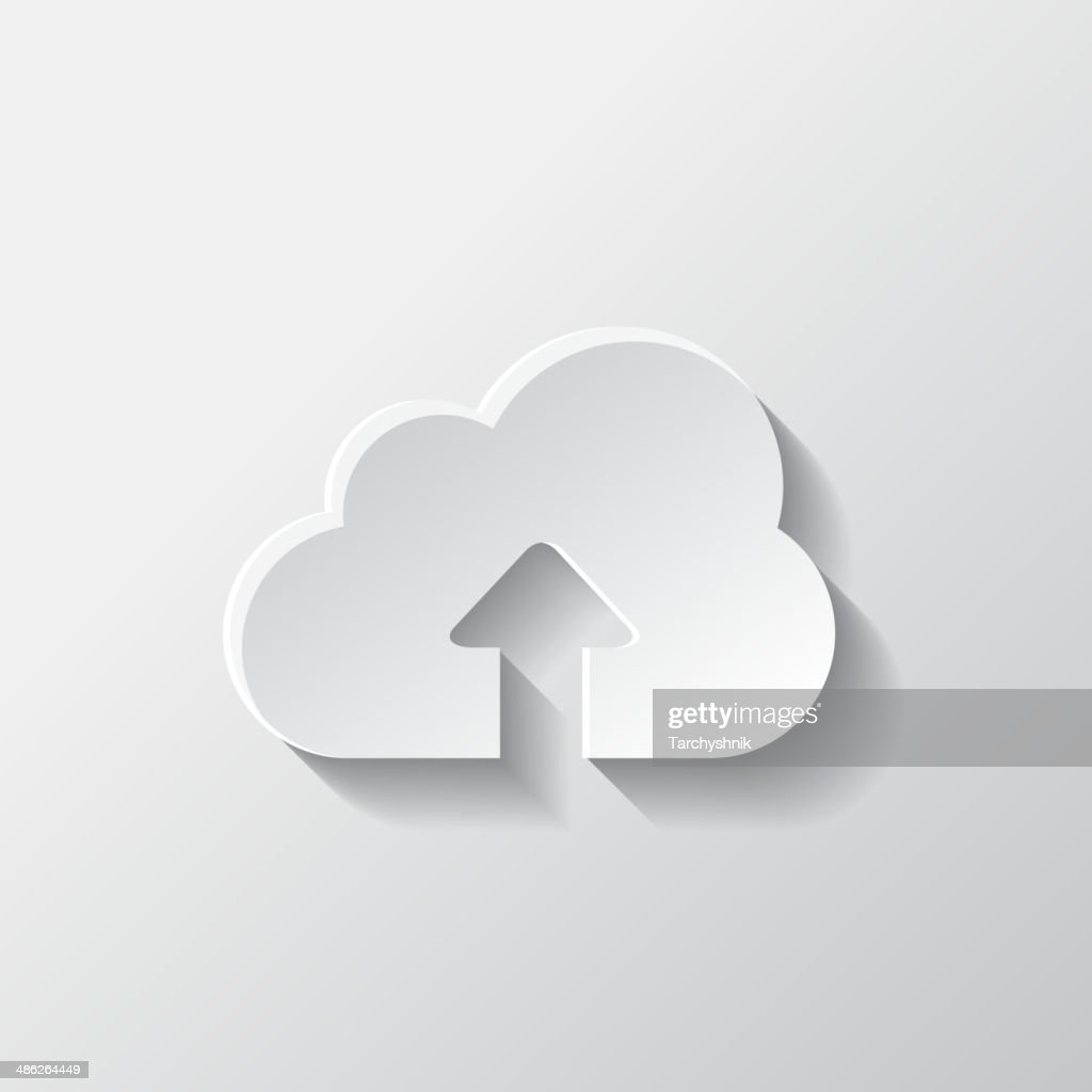 Application cloud upload icon.