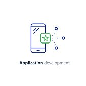 Application icon, mobile app development service, smartphone technology