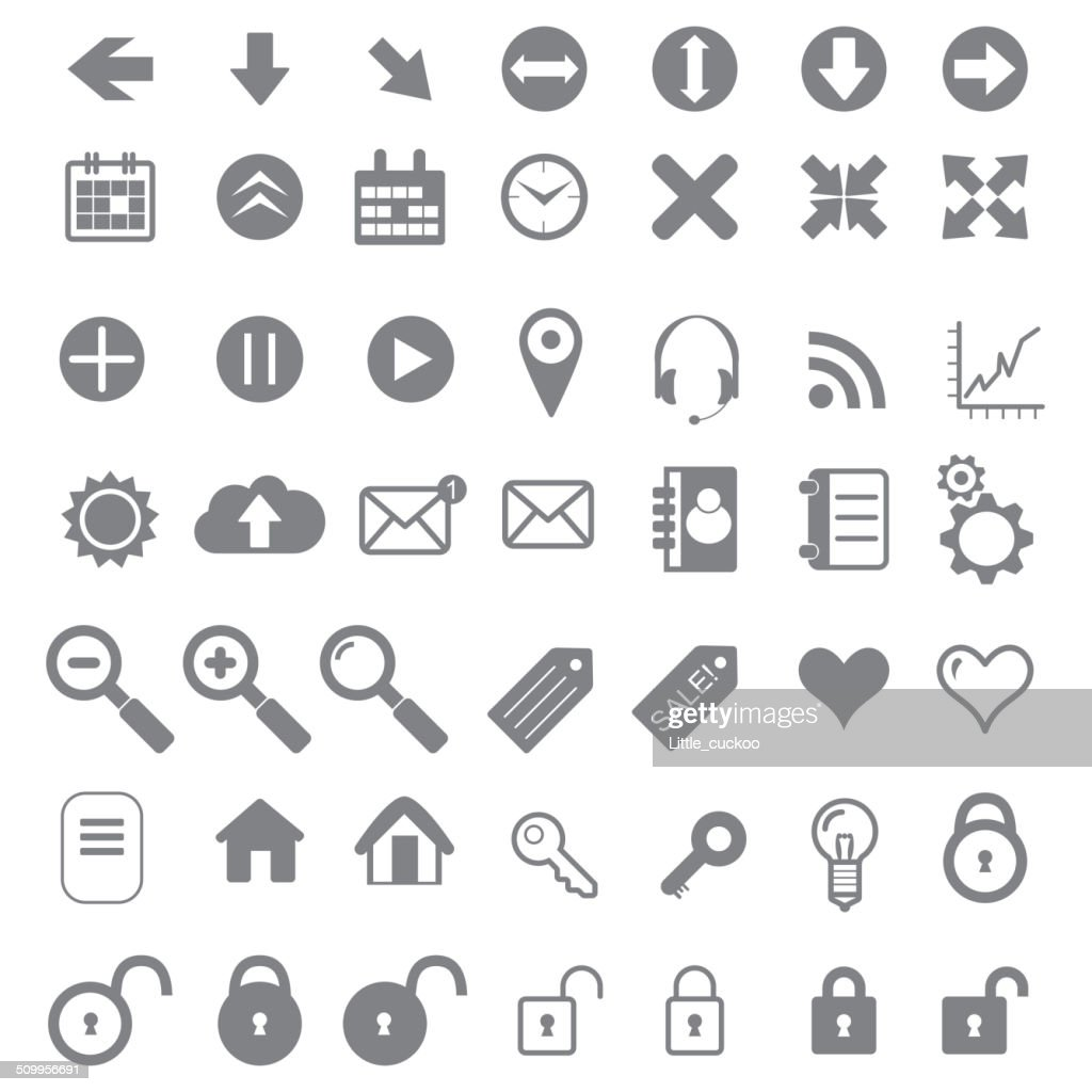 Application Icons for Web and Mobile.