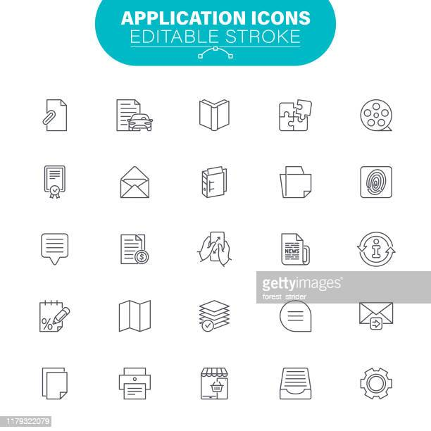 application icons - e mail spam stock illustrations