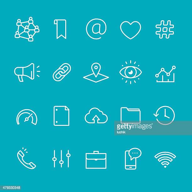 Application UI vector stroke icons