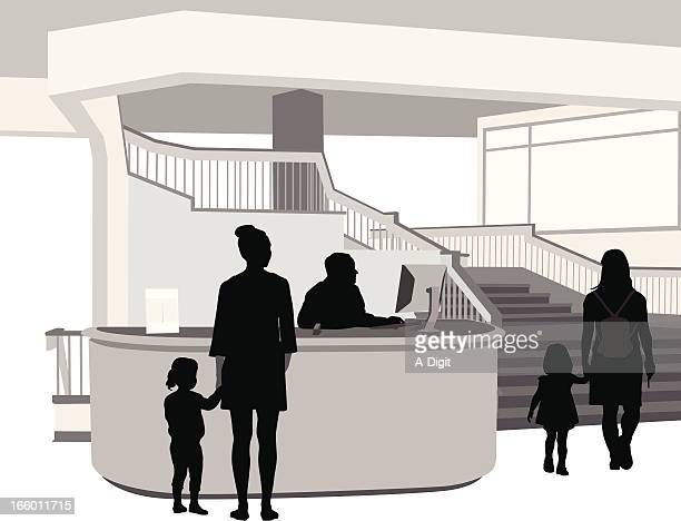 appointment - hotel reception stock illustrations, clip art, cartoons, & icons