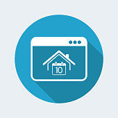 Appointment web page - Vector flat icon