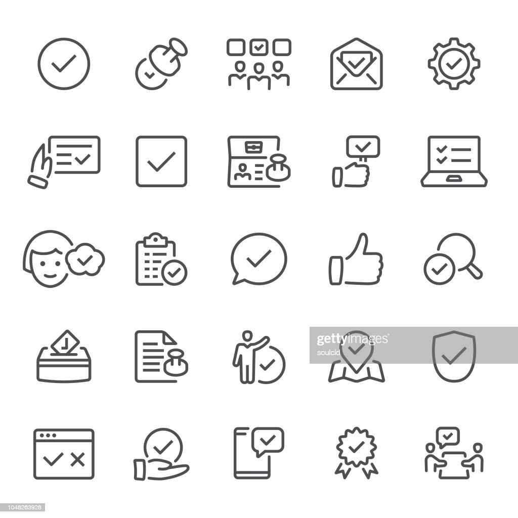 Approval icons : stock illustration