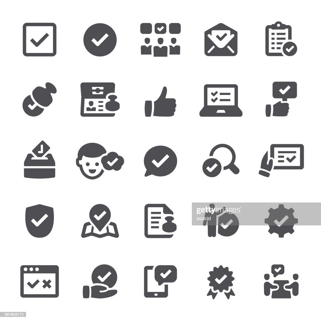 Zulassung-Symbole : Stock-Illustration