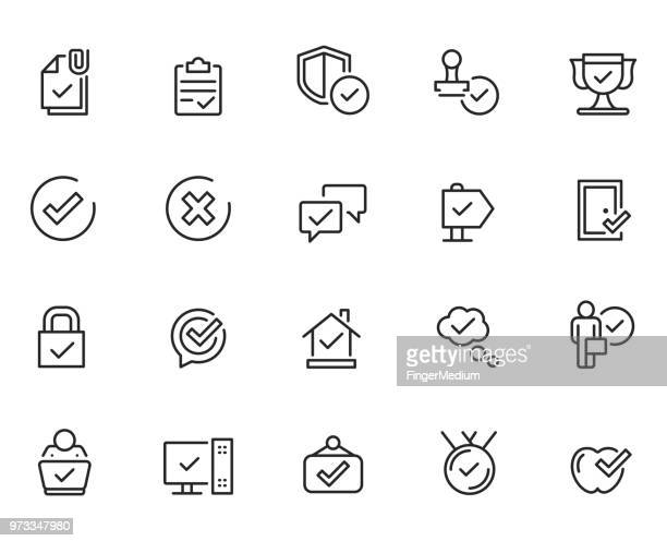 ilustrações, clipart, desenhos animados e ícones de aprovar os ícones - approval