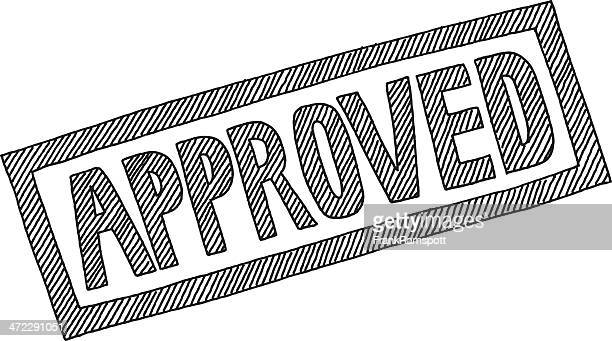 approved lettering drawing - verification stock illustrations