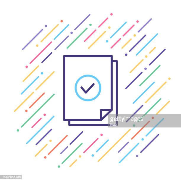 approved line icon - occupational safety and health stock illustrations, clip art, cartoons, & icons