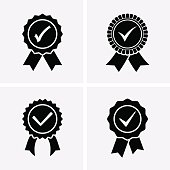 Approved or Certified Medal Icons.