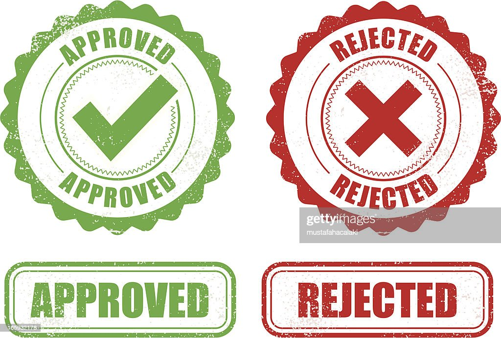 Approved Rejected stamps : Vector Art