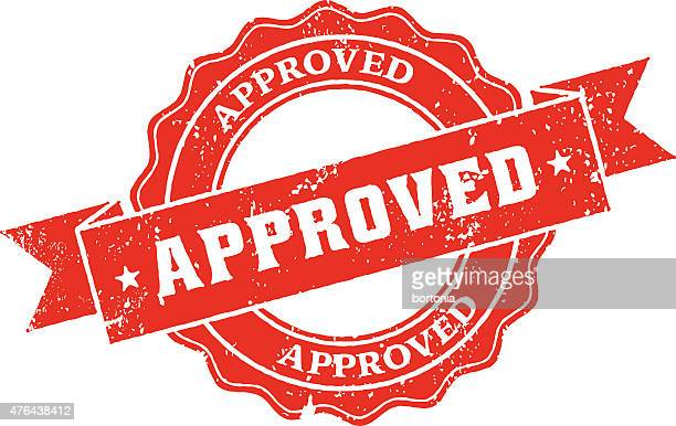 Approved Rubber Stamp Ink Imprint Icon (Transparent Background)