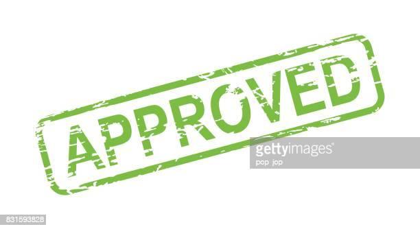 Approved Stamp - Grunge Vector Illustration