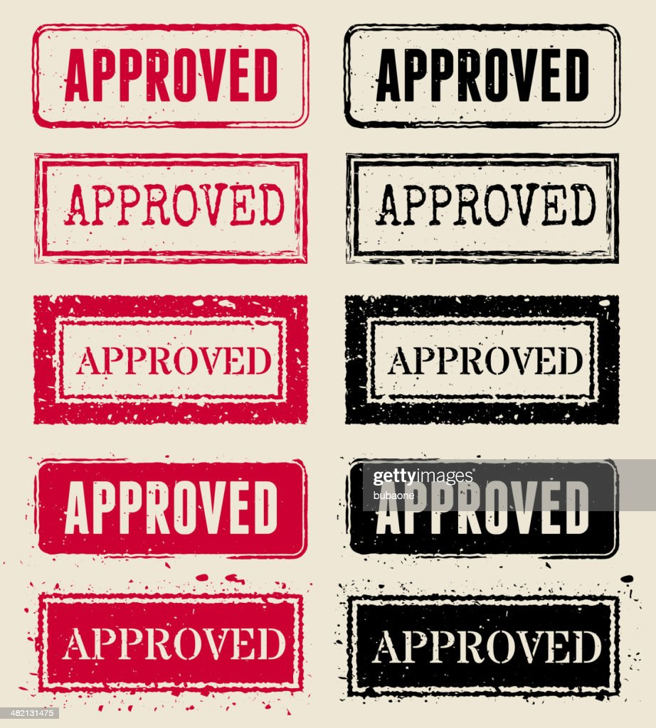 Approved Vector Rubber Stamp Collections