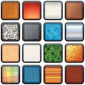 Apps Button Textures. Vector Eps 10