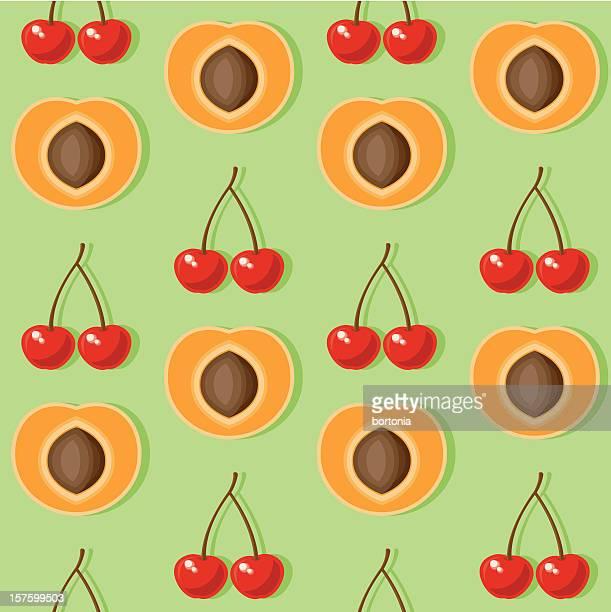 Abricot et Cherry motif sans couture.