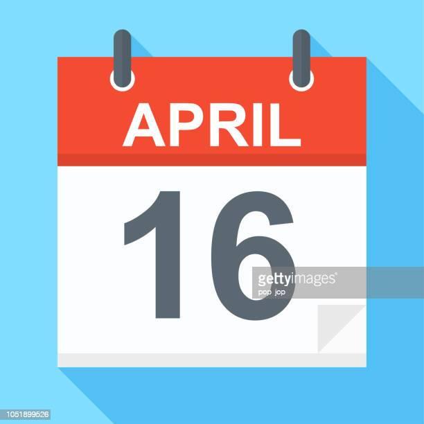 April 16 - Calendar Icon