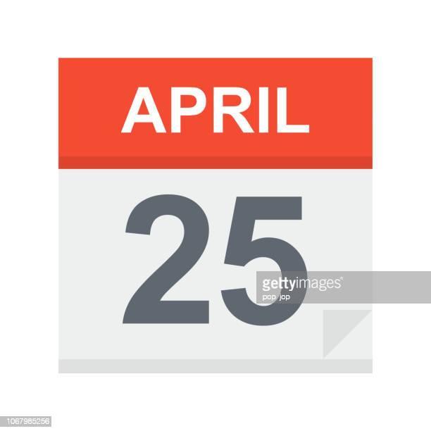 April 25 - Calendar Icon
