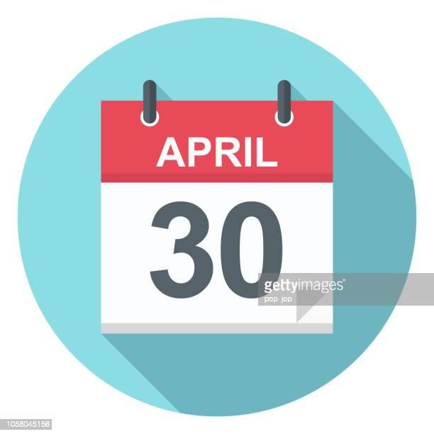4 月 30 日 - カレンダー アイコン - 四月点のイラスト素材/クリップアート素材/マンガ素材/アイコン素材