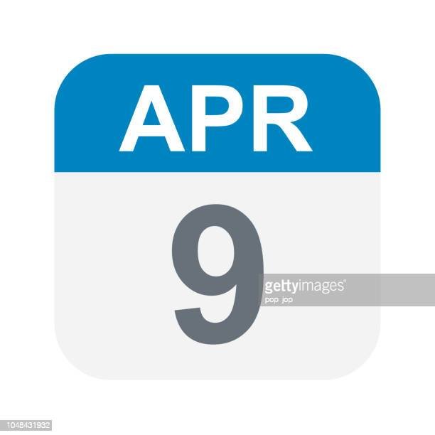 April 9 - Kalender-Symbol