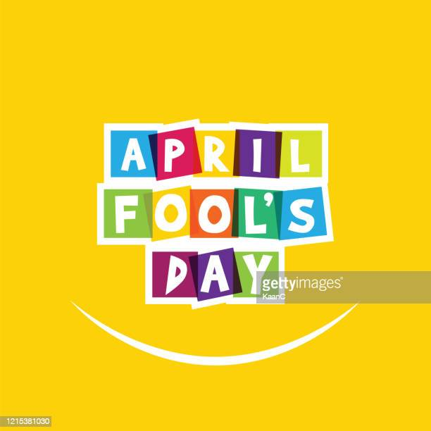 april fool's day, typography, colorful, flat design stock illustration - april fools day stock illustrations