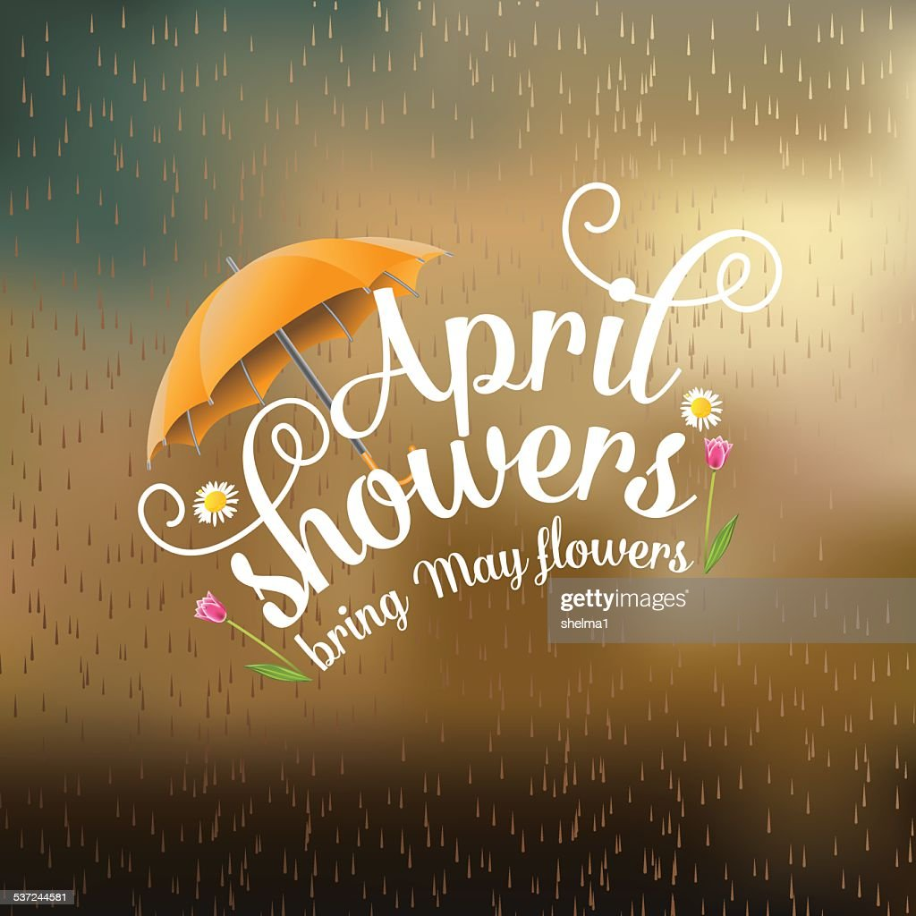April showers bring May flowers design