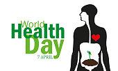 7 April World Health Day illustration