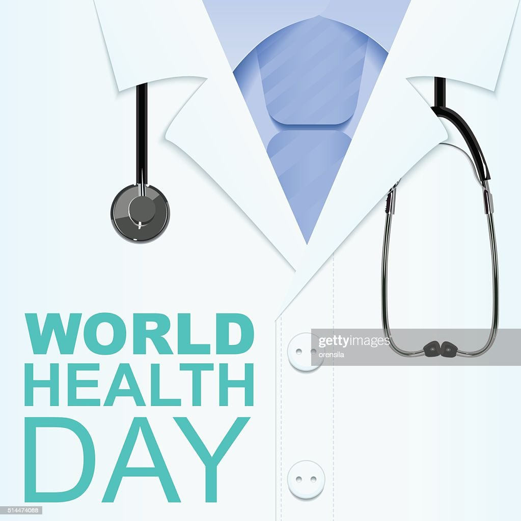 7 April World Health Day. Text for greeting card