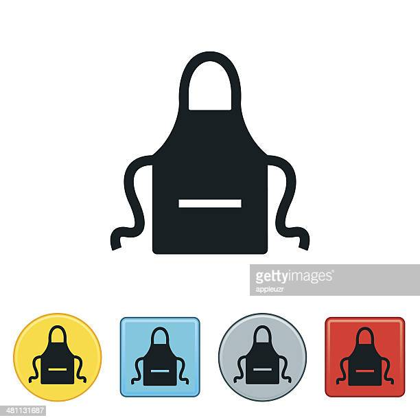 apron icon - apron stock illustrations